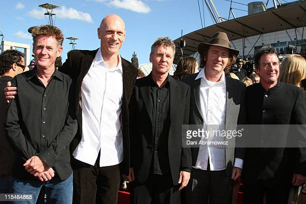 Midnight Oil during 2006 ARIA Awards Arrivals at Acer Arena Sydney Olympic Park in Sydney NSW Australia