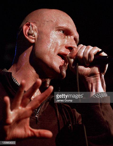 Midnight Oil performs during Midnight Oil In Concert Chicago at Metro in Chicago Illinois United States