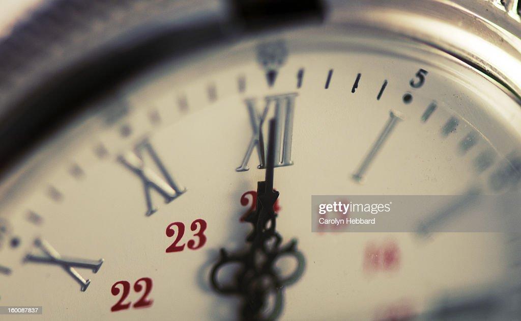 Midnight on Clockface. : Stock Photo