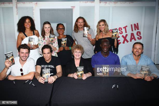 DIEGO 2017 'Midnight Texas Book Signing' Pictured Back Row Parisa FitzHenley Sarah Ramos Monica OwusuBreen Executive Producer Jason Lewis Arielle...