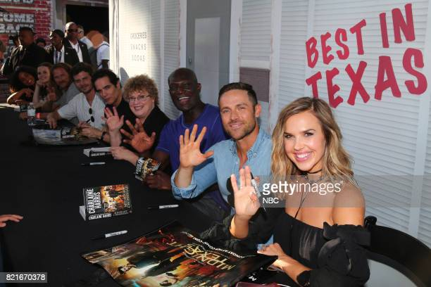 DIEGO 2017 'Midnight Texas Book Signing' Pictured Parisa FitzHenley Sarah Ramos Jason Lewis Francois Arnaud Yul Vazquez Charlaine Harris Author of...