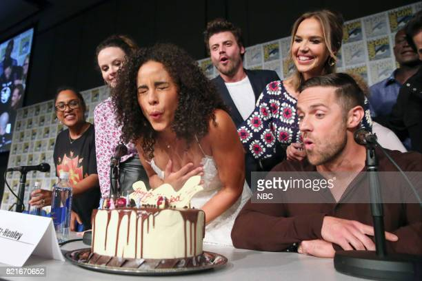 DIEGO 2017 ''Midnight Texas' Panel' Pictured Monica OwusuBreen Executive Producer Sarah Ramos Parisa FitzHenley Francois Arnaud Arielle Kebbel Dylan...