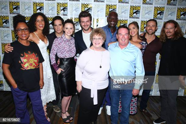 DIEGO 2017 ''Midnight Texas' Press Room' Pictured Monica OwusuBreen Executive Producer Parisa FitzHenley Yul Vazquez Sarah Ramos Francois Arnaud...