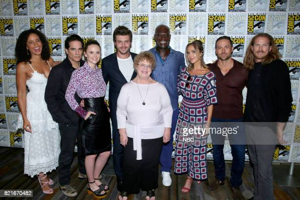 DIEGO 2017 ''Midnight Texas' Press Room' Pictured Parisa FitzHenley Yul Vazquez Sarah Ramos Francois Arnaud Charlaine Harris Author of the 'Midnight...