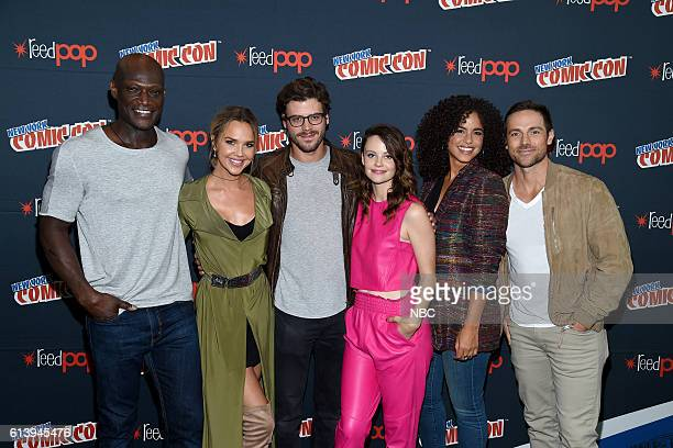 CON 2016 'Midnight Texas' Press Room Pictured Peter Mensah Arielle Kebbel Francois Arnaud Sarah Ramos Parisa FitzHenley Dylan Bruce on Saturday...