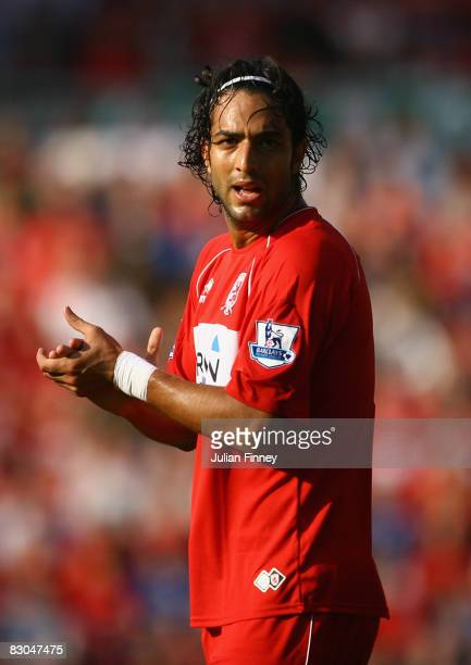 Mido of Middlesbrough during the Barclays Premier League match between Middlesbrough and West Bromwich Albion at the Riverside Stadium on September...