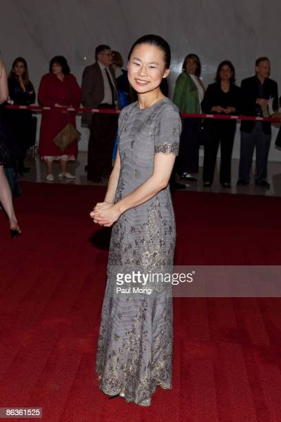 Midori arrives at the 17th Annual Kennedy Center Spring Gala at the Hall of Nations inside the John F Kennedy Center For The Performing Arts on May 3...