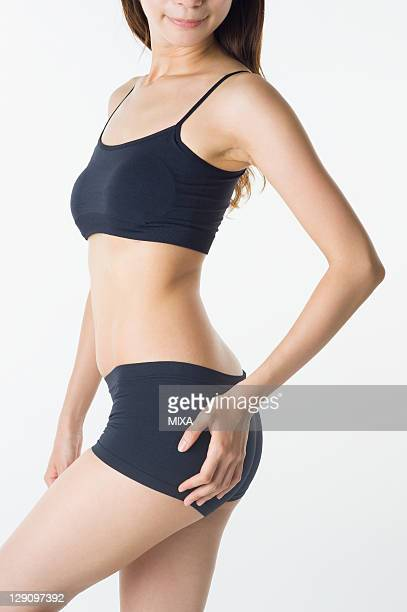 Midsection of Woman in Underwear