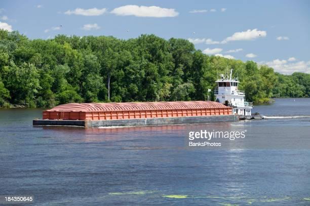 Midsummer Mississippi River Barge