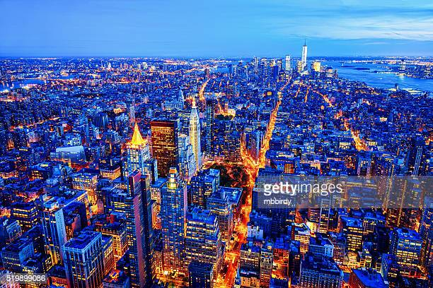 Midtown und Lower Manhattan skyline, New York, USA