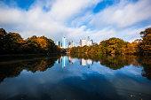 Midtown Atlanta reflected in the lake