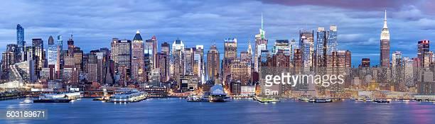 Midtown Manhattan al atardecer, ciudad de Nueva York