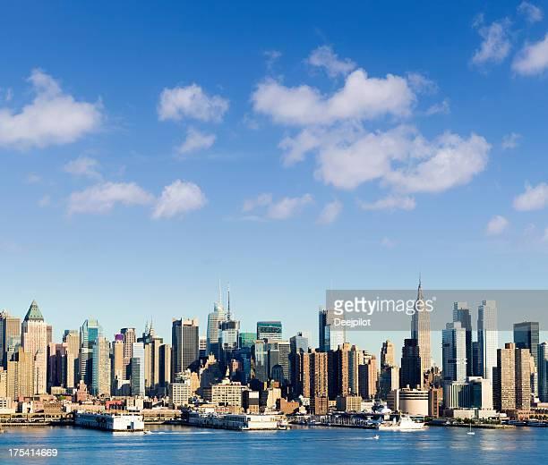 Le quartier de Midtown, à Manhattan, Panorama de la ville de New York, États-Unis