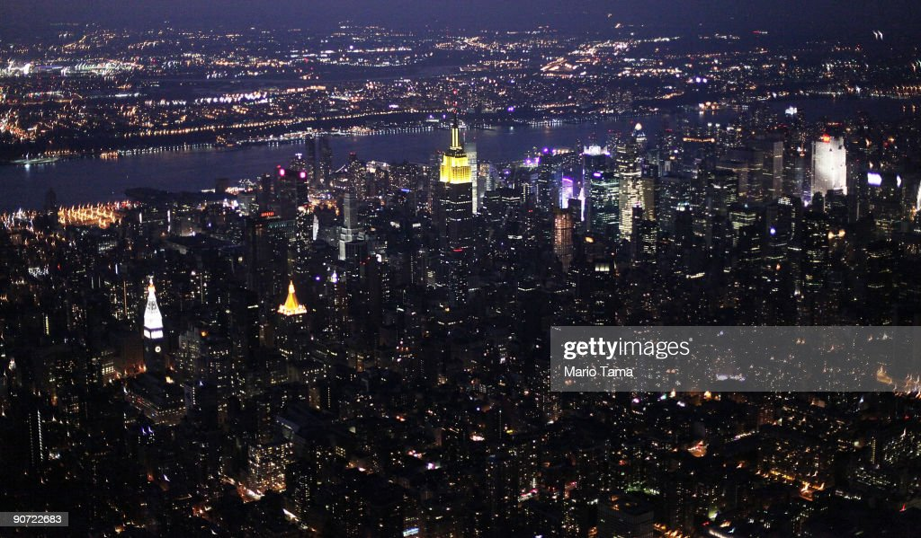 Midtown Manhattan is seen at dusk September 13, 2009 in New York City.