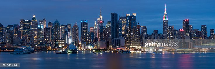 Midtown Manhattan Night Panorama