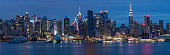 Midtown Manhattan Night Panorama