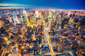 Midtown New York aerial view