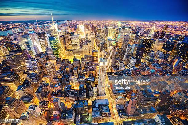 ミッドタウン、ニューヨークの空からの眺め