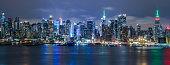 Midtown New York City Skyline at Night