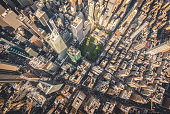 Aerial photograph taken from a helicopter in New York City