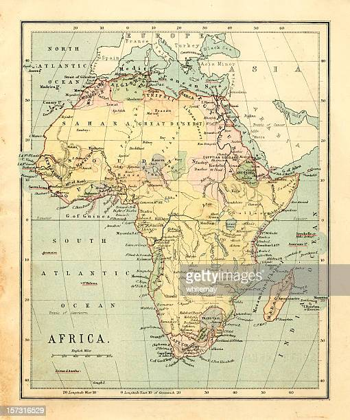 Mid-Victorian map of Africa