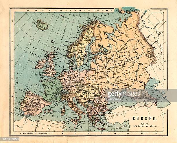 Mid-Victorian map of Europe