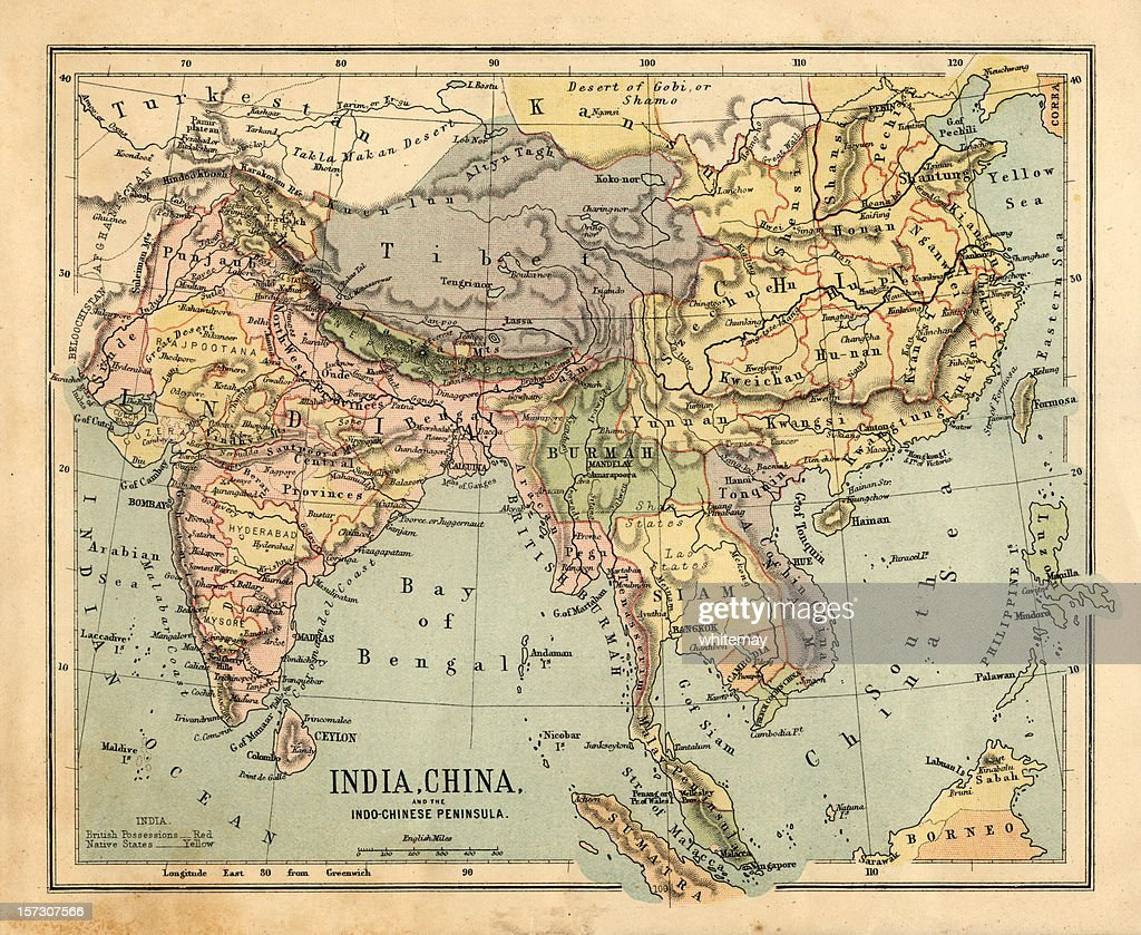 Mid-Victorian map of Indo-China