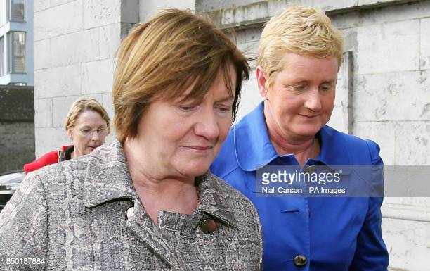 Midwife Ann Maria Burke and Una M Carr Assistant Director of Midwifery UCH Galway arrive for the inquest into the death of Savita Halappanavar at...