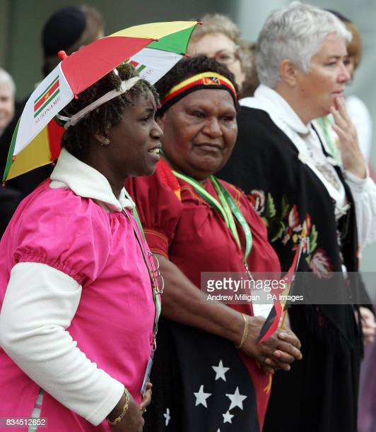Midwife Georgetina Eillioth from Suriname South America awaits the arrival of the Princess Royal at the 28th International Congress of Midwives in...