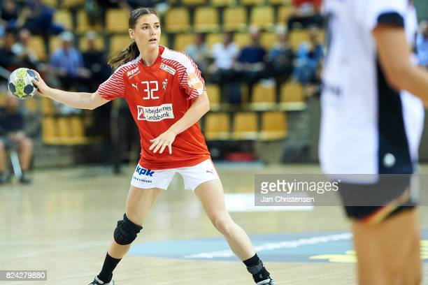 Mie Hojlund of Denmark in action during the international friendly match between Denmark and Germany at Ceres Arena on June 08 2017 in Arhus Denmark