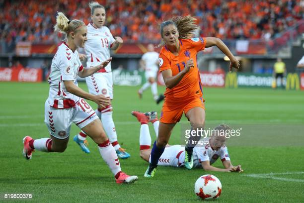 Mie Jans of Denmark women Cecilie Sandvej of Denmark women Lieke Martens of Holland Women during the UEFA WEURO 2017 Group A group stage match...