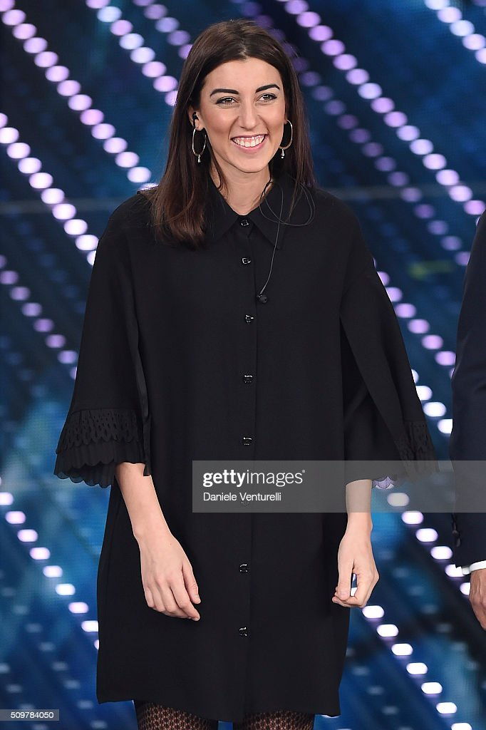 Miele attends the fourth night of the 66th Festival di Sanremo 2016 at Teatro Ariston on February 12, 2016 in Sanremo, Italy.