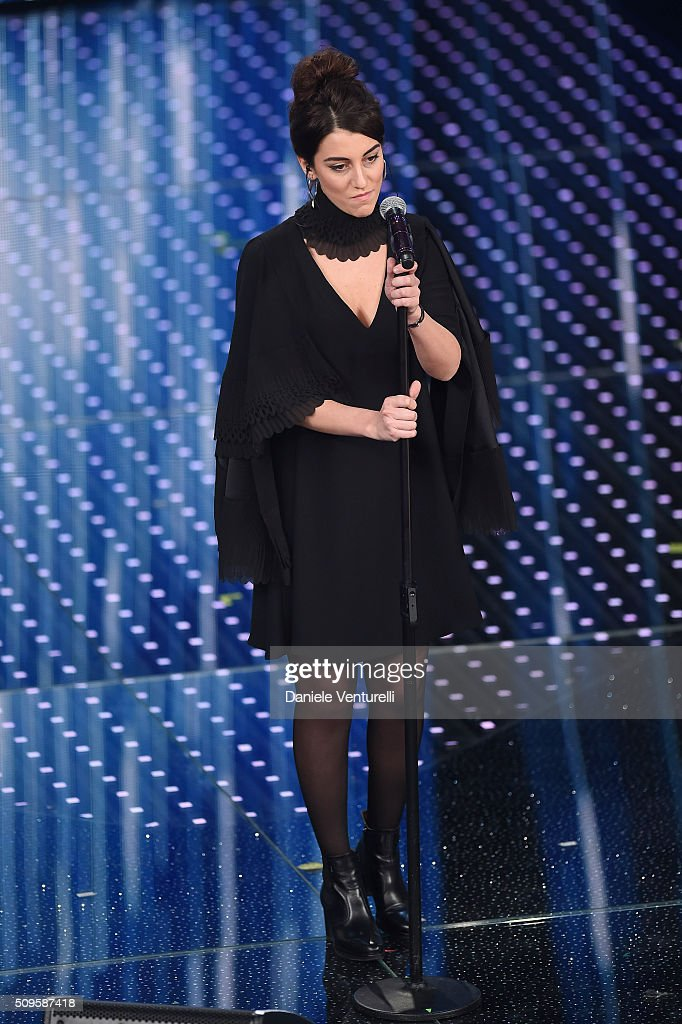 Miele attends the third night of the 66th Festival di Sanremo 2016 at Teatro Ariston on February 11, 2016 in Sanremo, Italy.