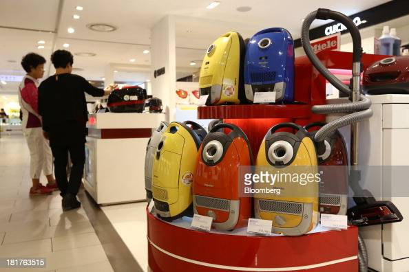 Miele Cie KG vacuum cleaners are displayed at a Shinsegae Co department store in Seoul South Korea on Tuesday Sept 24 2013 The South Korean economy...
