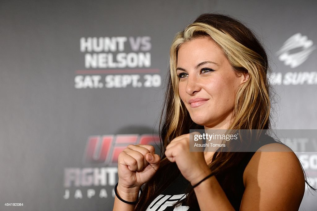 Miesha Tate, UFC women's bantaweight poses for a photograph during a UFC press conference at Akasaka Garden City on August 26, 2014 in Tokyo, Japan.