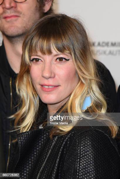Mieze Katz of the band Mia attends the 9th GEMA Musikautorenpreis at Ritz Carlton Hotel on March 30 2017 in Berlin Germany