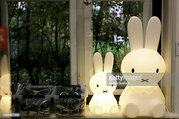 Miffy lamps at the Dick Bruna House Museum Utrecht The Netherlands 2nd October 2010