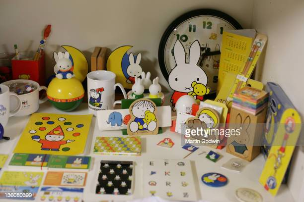 Miffy merchandise and toys for sale in the Dick Bruna House Museum Utrecht The Netherlands 2nd October 2010
