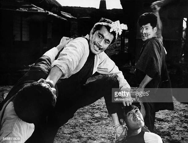 Mifune Toshiro Actor Producer Director Japan * Portrait in the main role as Muhomatsu in the movie 'The Rickshaw Man' Directed by Hiroshi Inagaki...