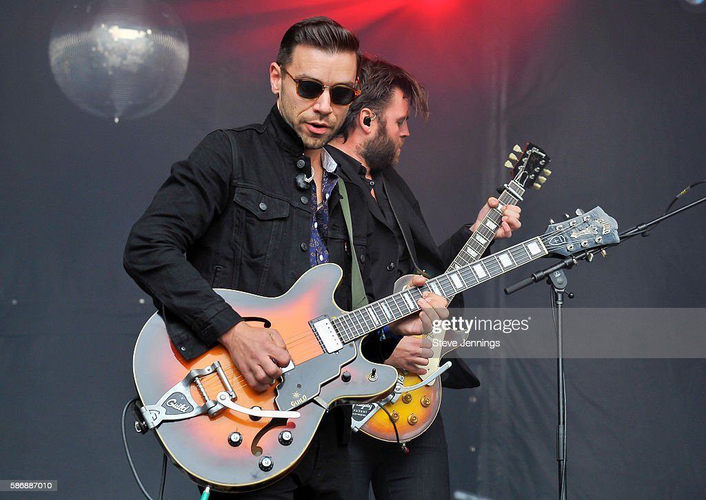 Migel Briseno and Tom Renaud of Lord Huron perform on Day 2 of Outside Lands Music and Arts Festival at Golden Gate Park on August 6 2016 in San...