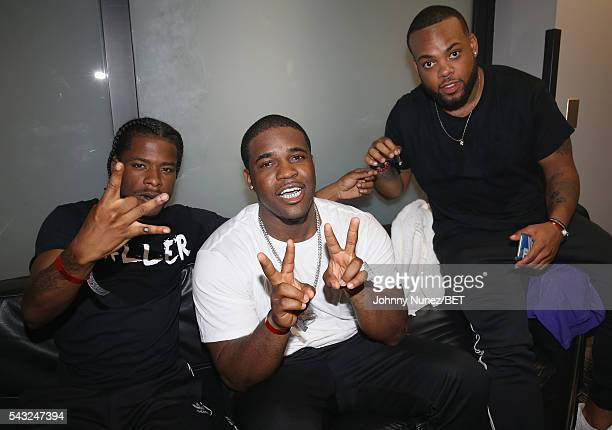 Mighty Baller and ASAP Ferg attend the 2016 BET Experience Staples Center Concert Presented by Sprite Performances by LIL WAYNE 2 CHAINZ TORY LANEZ...