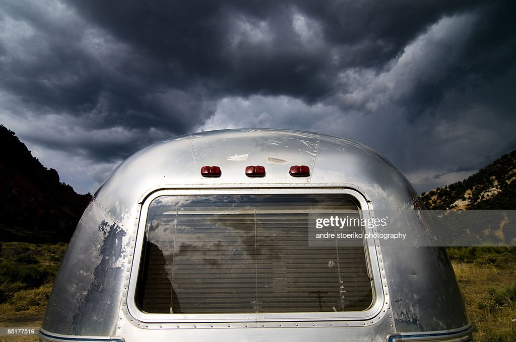 mighty dark clouds : Stock Photo