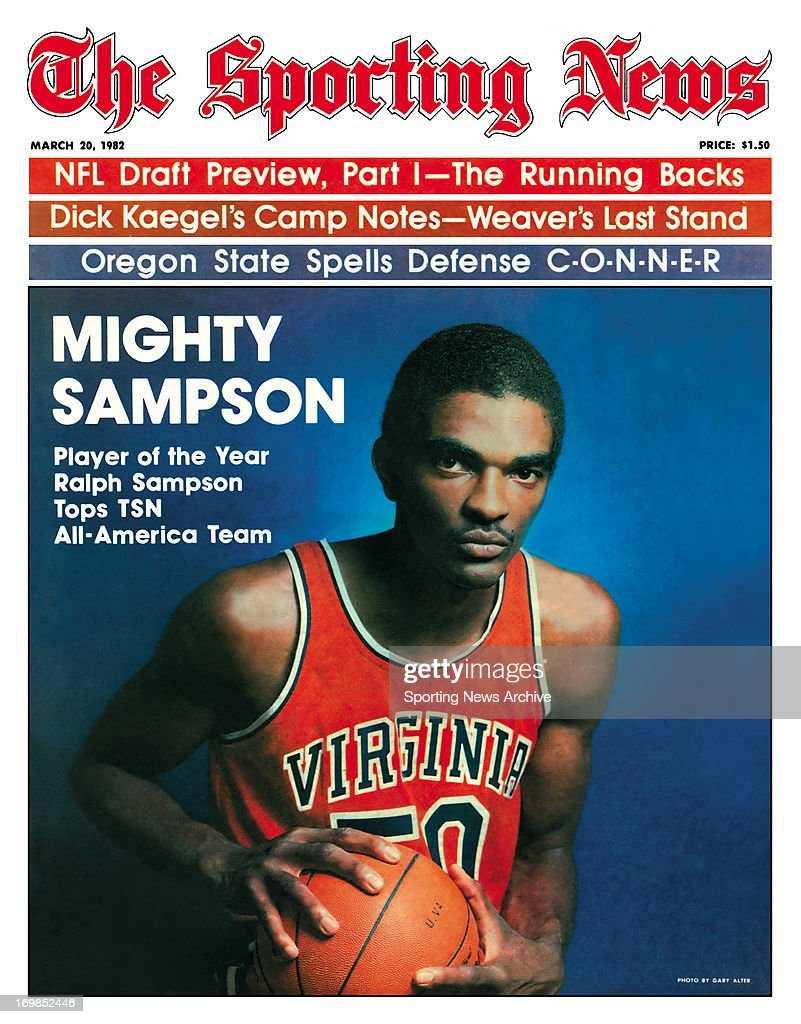 NCAA Basketball Covers Virginia Cavaliers Ralph Sampson March