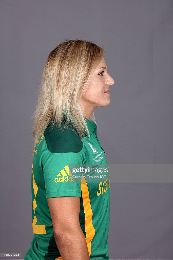 Mignon Du Preez, captain of South Africa poses at a portrait session ahead of the ICC Womens World Cup 2013 at the Taj Mahal Palace Hotel on January 27, 2013 in Mumbai, India.