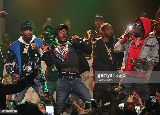 Migos and Lil Uzi Vert perform onstage at Puma Hot 1079 presents Migos 'Culture' Album Release Show at Center Stage on January 28 2017 in Atlanta...