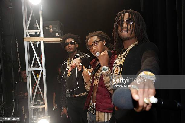 Migos attend BET's '106 Party' at BET Studios on December 12 in New York City