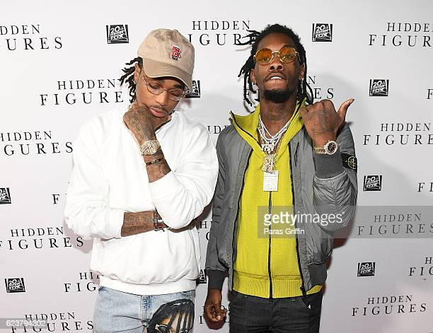 Migos attend 'Hidden Figures' Soundtrack Listening Party hosted by DJ Drama with Janelle Monae Pharrell Williams at Means Street Studios on November...