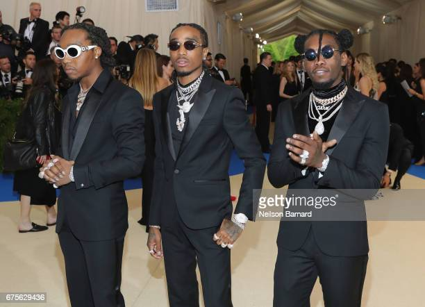 Migos attends the 'Rei Kawakubo/Comme des Garcons Art Of The InBetween' Costume Institute Gala at Metropolitan Museum of Art on May 1 2017 in New...
