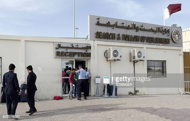 Migrants arrive at the Search and Follow up Department which is processing the claims of those trying to leave as part of an ongoing threemonth...