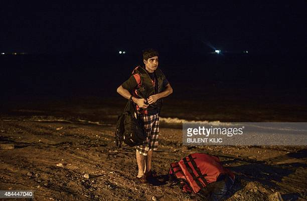 Migrants come back to the shore of Bodrum after failing to reach the Greek island of Kos early on August 19 2015 The UN refugee agency said in the...